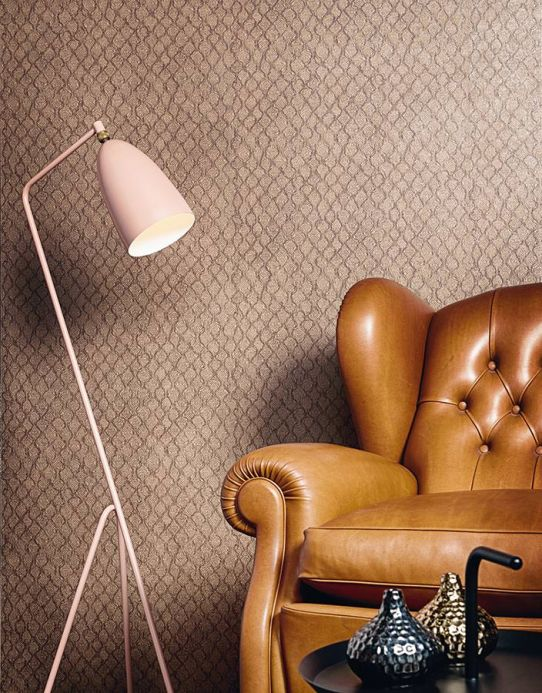 Archiv Wallpaper Stafal light beige brown Room View