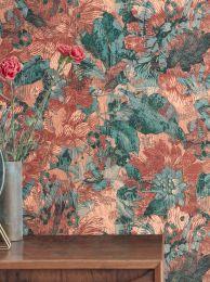 Papel pintado Hanna tonos de marrón