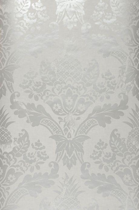 Archiv Papier peint Merino gris clair nacré Largeur de lé