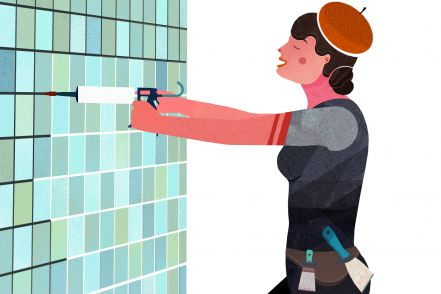 How to wallpaper in the bathroom