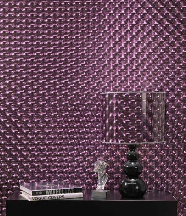 Papel de parede metálico Papel de parede Cassiopeia violeta lustre Ver quarto