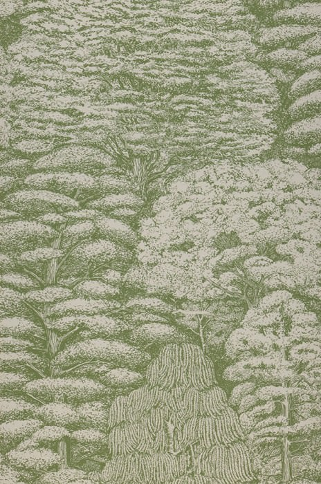 Wallpaper Roderik Matt Trees Cream Fern green