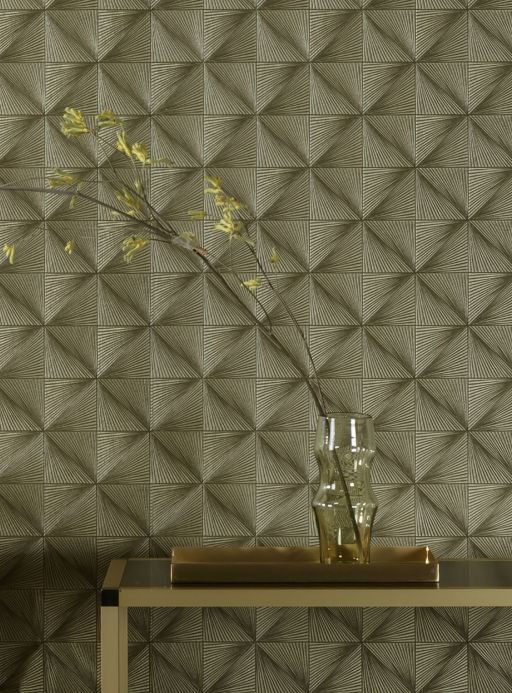 Geometric Wallpaper Wallpaper Tillas pearl gold Room View