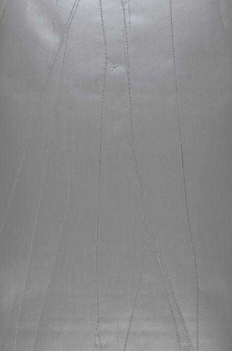 Papier peint effet froissé Papier peint Big Crush 03 gris Largeur de lé