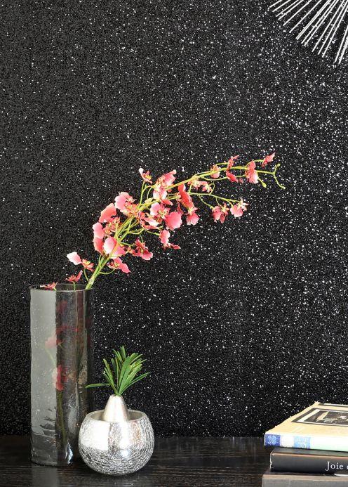 New arrivals! Wallpaper Paragon black glitter Room View