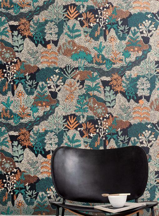 Funky Wallpaper Wallpaper Tammi mint turquoise Room View