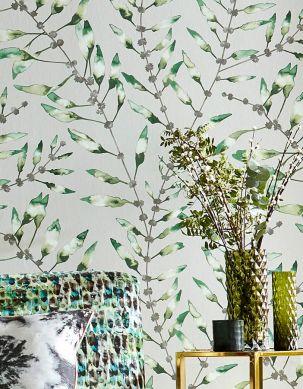 Papel de parede Mathea tons de verde Ver quarto