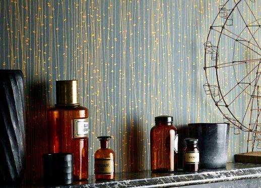 Wallpaper Matisse golden yellow Room View