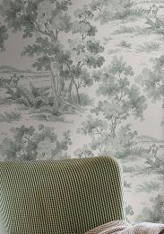 Papel de parede Calobra cinza menta
