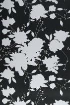 Wallpaper Silhouette Matt Floral silhouettes Black White