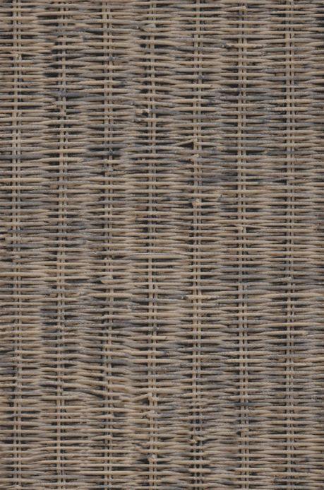 Shabby Chic Tapeten Tapete Rattan Weave Beigegrau A4-Ausschnitt