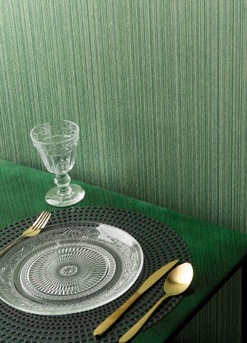 Papier peint vert Papier peint Calpan tons de vert Vue pièce