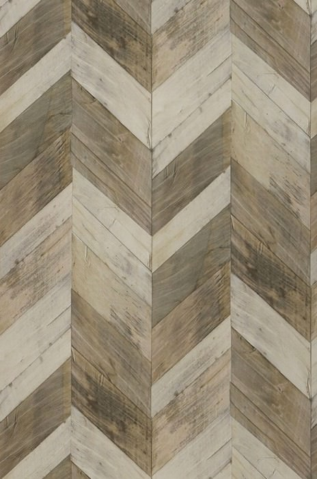Wallpaper Wood Herringbone Matt Imitation wood Beige Brown grey Grey white Green brown Olive grey