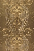 Wallpaper Morrigan Metallic effect Angel's wings Crowns Gold