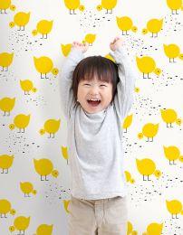 Papel pintado Pitta amarillo