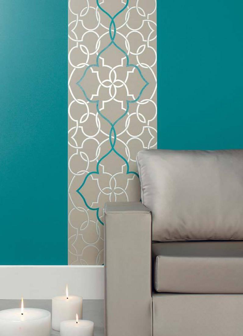 Papel de parede dario cinza claro prata lustre azul for Papel pared turquesa
