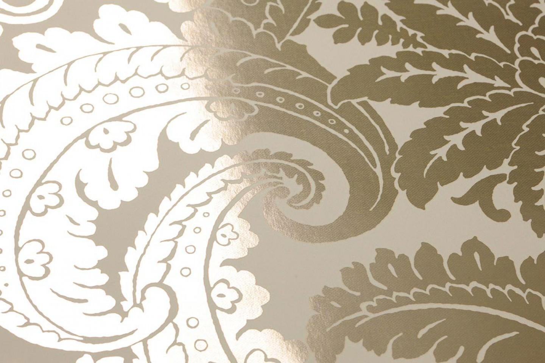 papier peint nemesis blanc cr me dor lustre papier peint des ann es 70. Black Bedroom Furniture Sets. Home Design Ideas