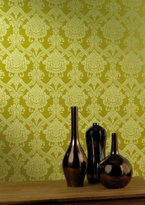 Archiv Wallpaper Anubis pale green Room View