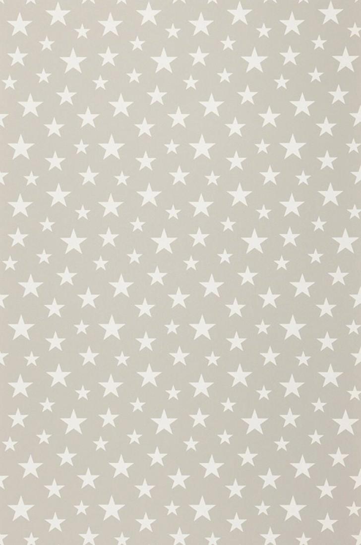 Papel pintado little stars gris blanco crema papeles - Papel pintado de los 70 ...