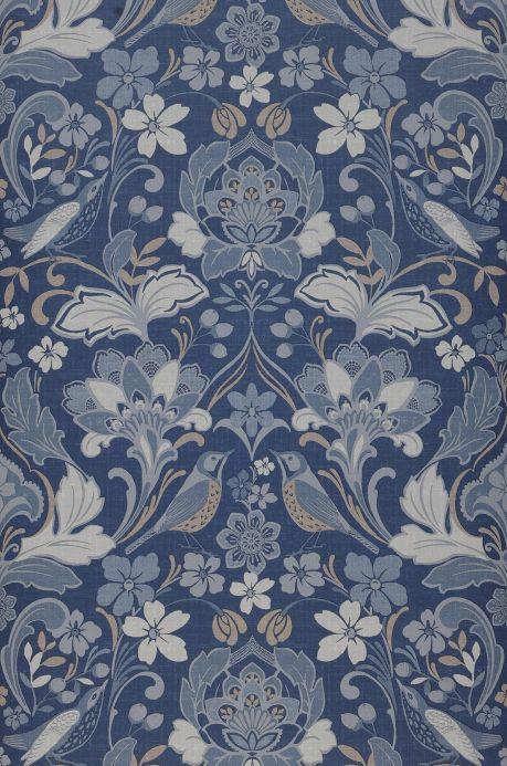 Papel pintado vintage Papel pintado Leyla tonos de azul Ancho rollo