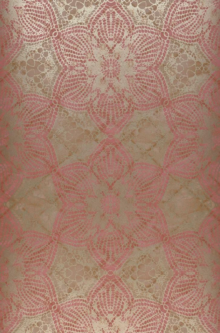 Papier peint Marrakesh (Brun pâle, Vieux rose, Beige nacré