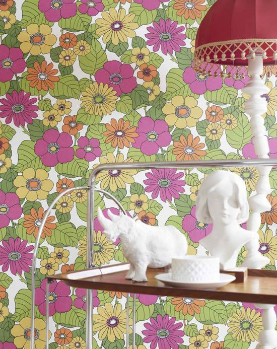 Archiv Wallpaper Lana yellow Room View