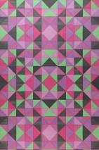 Papel pintado Sirius Mate Elementos geométricos Verde claro Magenta Gris negruzco Violeta