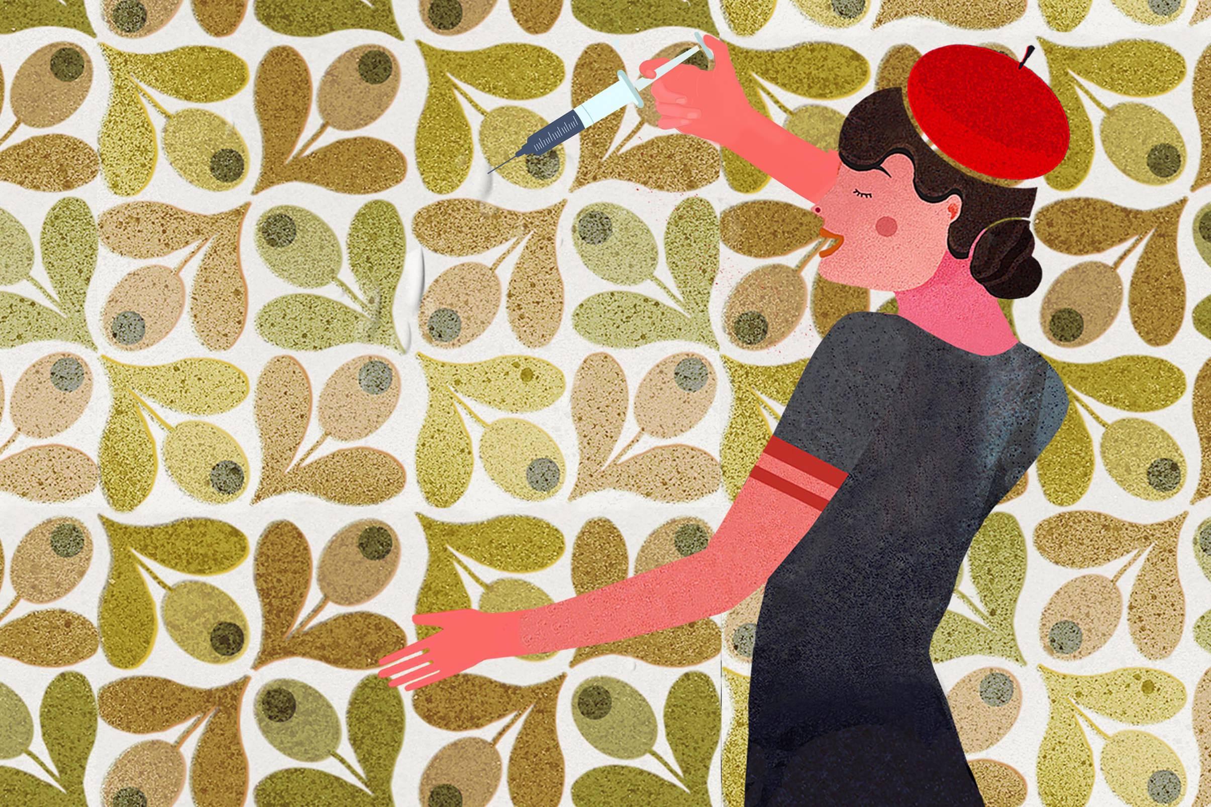 Tapeten-Blasen-mit-Leimspritze-entfernen