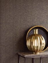 Wallpaper Kelem Shimmering pattern Matt base surface Stripes Gold Black Gold glitter