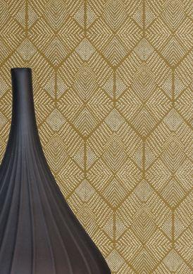 Wallpaper Brazilia khaki Raumansicht