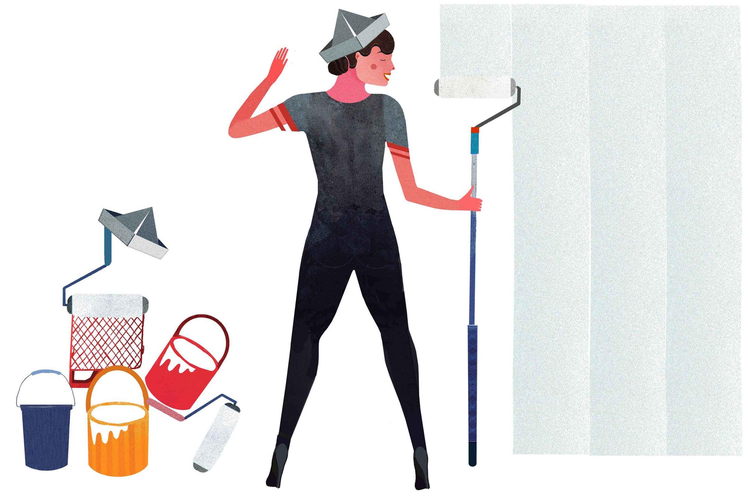 Comment-preparer-la-surface-a-tapisser-Appliquer-un-fond-penetrant-ou-de-la-colle-a-papier-peint-diluee