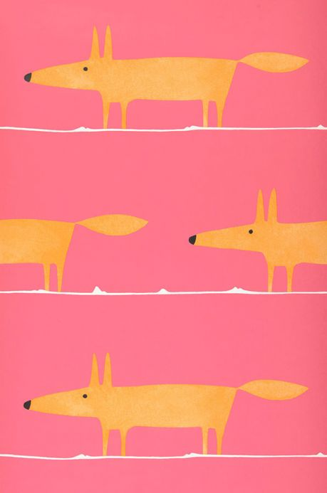 Archiv Wallpaper What does the Fox say rose Roll Width