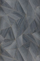 Wallpaper Zoras Shimmering pattern Matt base surface Triangles Graphic elements Grey Pearl gold