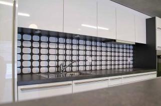 Wallpaper Silenus Matt Rounded rectangles White Black Silver
