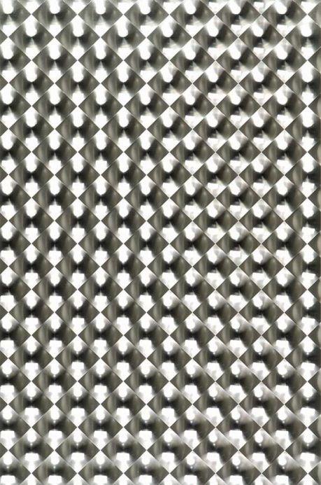 Papel de parede metálico Papel de parede Cassiopeia ouro branco lustre Largura do rolo
