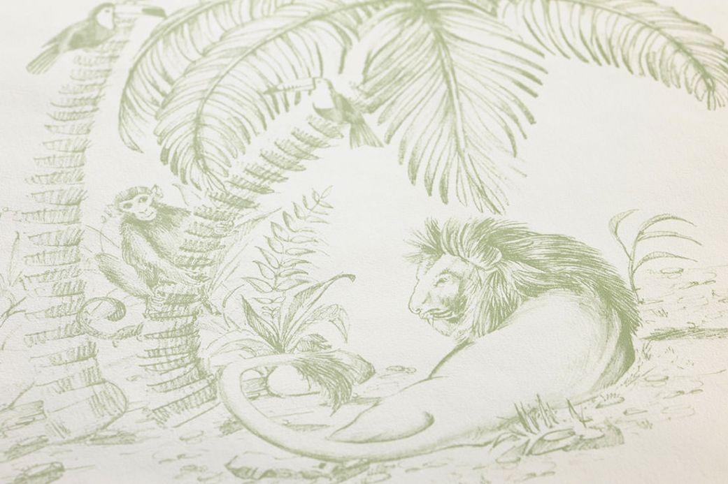 Archiv Papier peint Urati vert fougère Vue détail