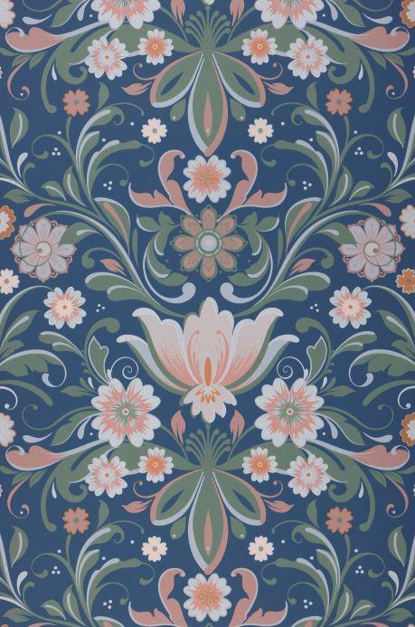 Papel pintado clásico Papel pintado Sanna azul celeste Bahnbreite