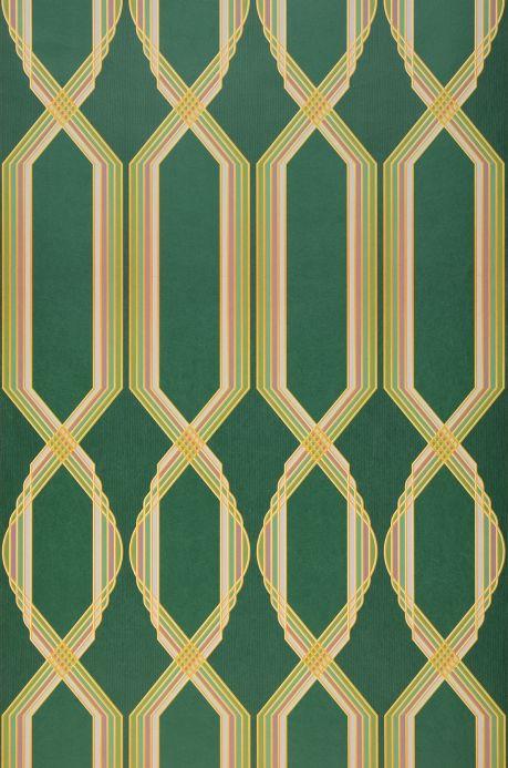 Art Deco Tapeten Tapete Alizarine Dunkelgrün Bahnbreite