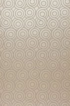 Papier peint Silvanus Chatoyant Motif rond Or blanc brillant Argenté doré brillant