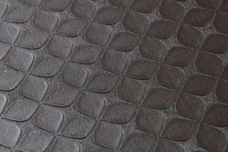 Papel de parede Korsal Brilhante Flores estilizadas Marrom negrusco