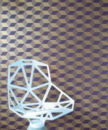 Papel pintado Squares oro