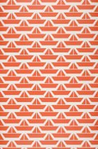 Wallpaper Divis Matt Boats White Orange red