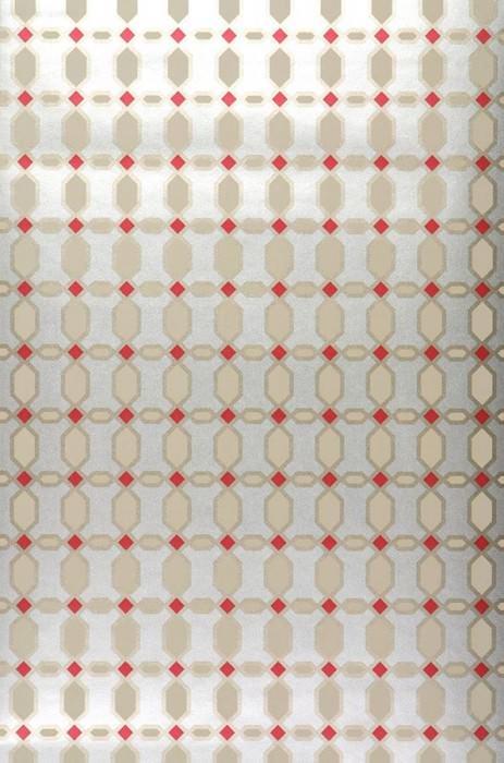 Wallpaper Diamonds Shimmering Rhombus elements Silver Beige Gold Red