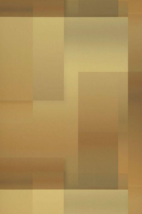 Papel de parede geométrico Papel de parede Space Odyssey amarelo pastel Largura do rolo