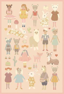 Dollhouse Sticker A4-Ausschnitt
