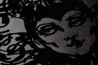 Wallpaper Venus Shimmering base surface Head Anthracite Black