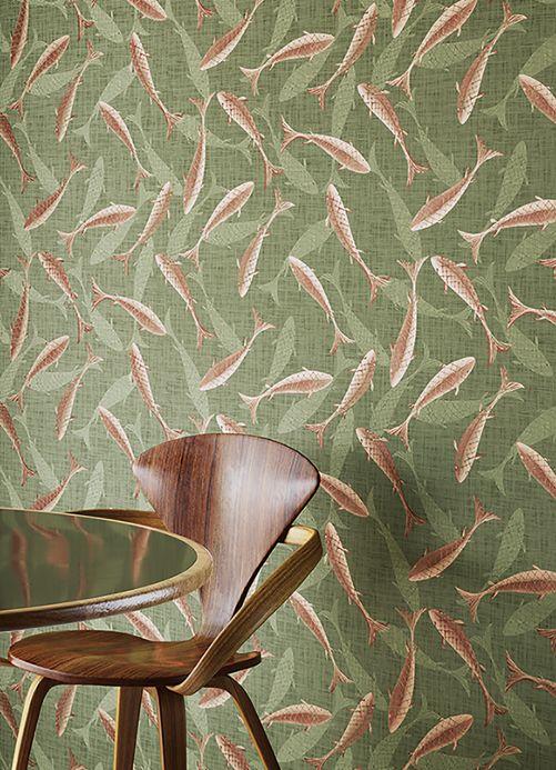 Maritime Wallpaper Wallpaper Immola reed green Room View