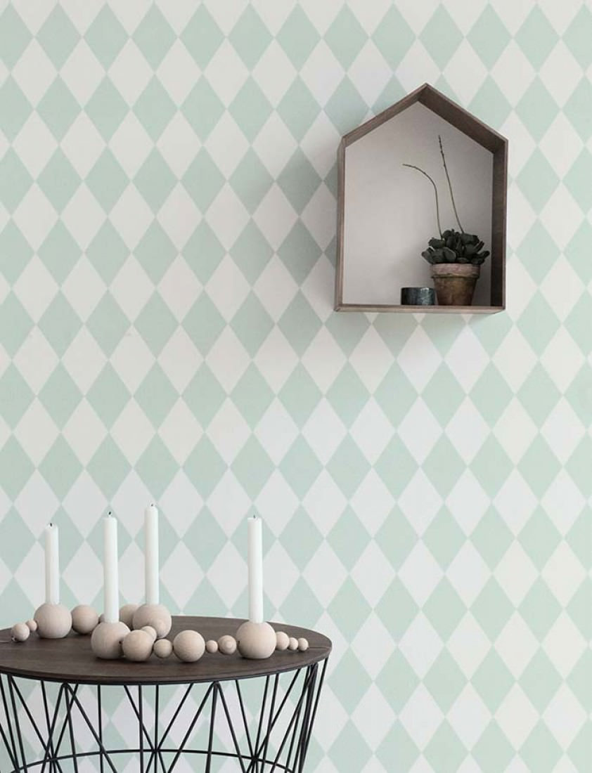 harlequin weiss blassgr n geometrische tapeten. Black Bedroom Furniture Sets. Home Design Ideas