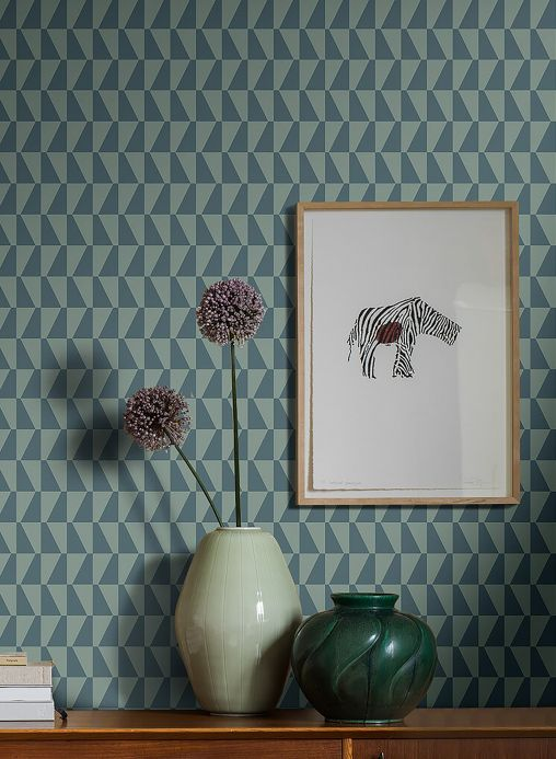 Wallpaper Wallpaper Balder grey blue Room View