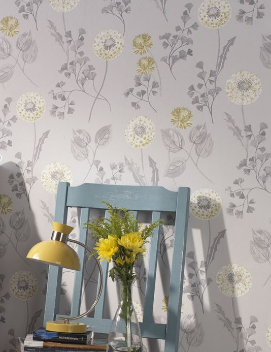 Archiv Wallpaper Tauria grey tones Room View